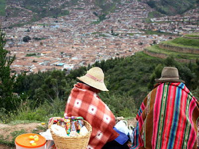 Women selling handicrafts in Cuzco Peru