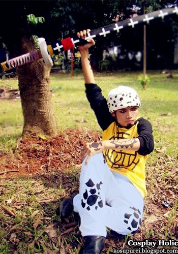 one piece cosplay - trafalgar law by zero rama