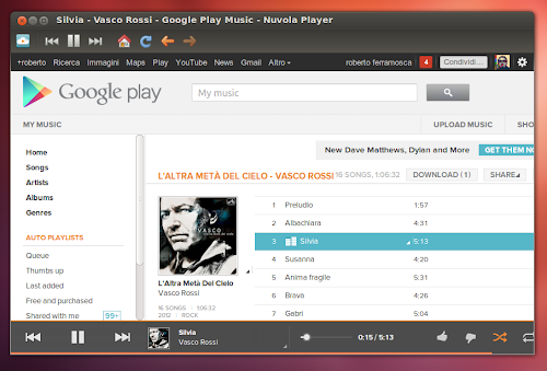 Nuvola Player 2.0 su Ubuntu