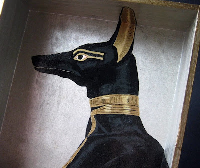 Anubis the Jackal Acrylic Painting