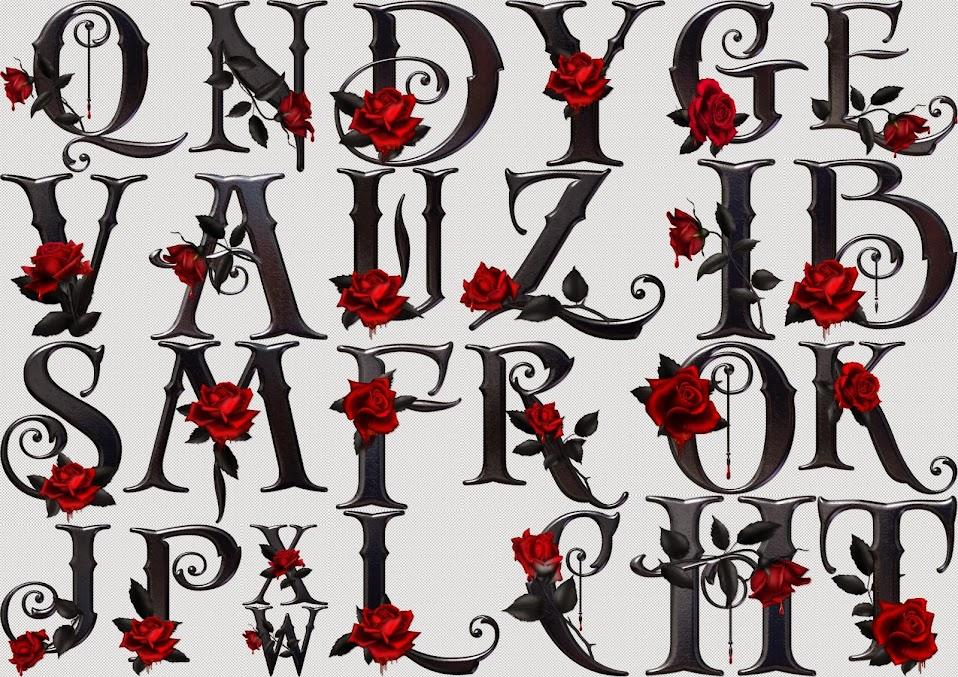 alphabet  z  rose  point de croix  cross stitch  Blog