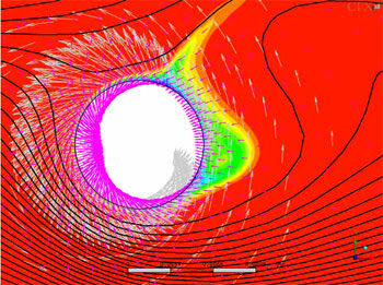 Моделирование процесса гальванического покрытия electromagnetics@cfx. Влияние несимметричной силы Лоренца на осаждение металла