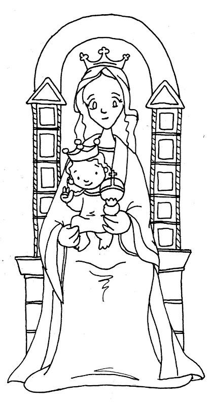 Virgen de Coromoto para colorear