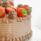 Eggless Fresh Cream Chocolate, Strawberry and Ferrero Rocher Cake