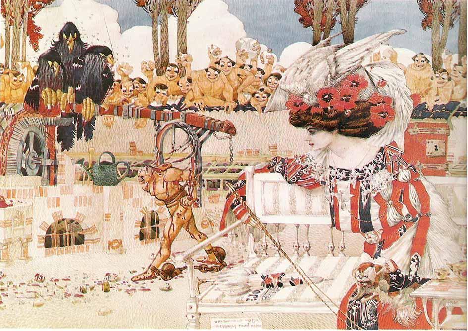 Gustave Adolphe Mossa - Dalila s'amuse
