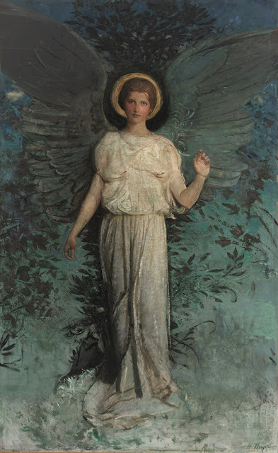 Abbott Handerson Thayer - Winged Figure (The Angel)