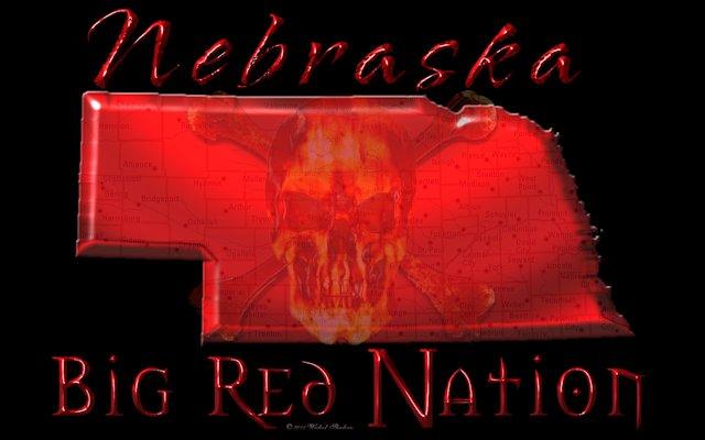 Nebraska Big Red Nation Black