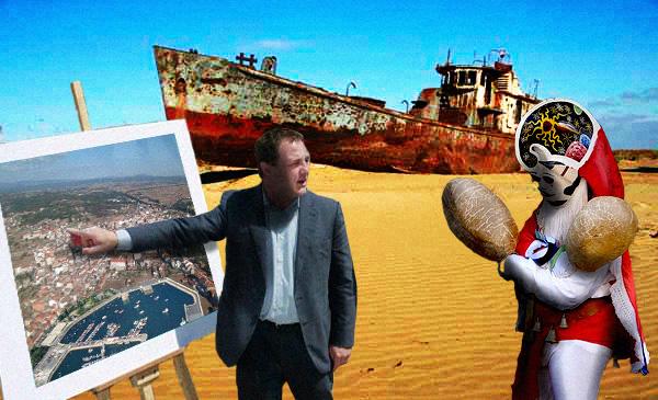 Presentación do novo porto de Xinzo de Limia