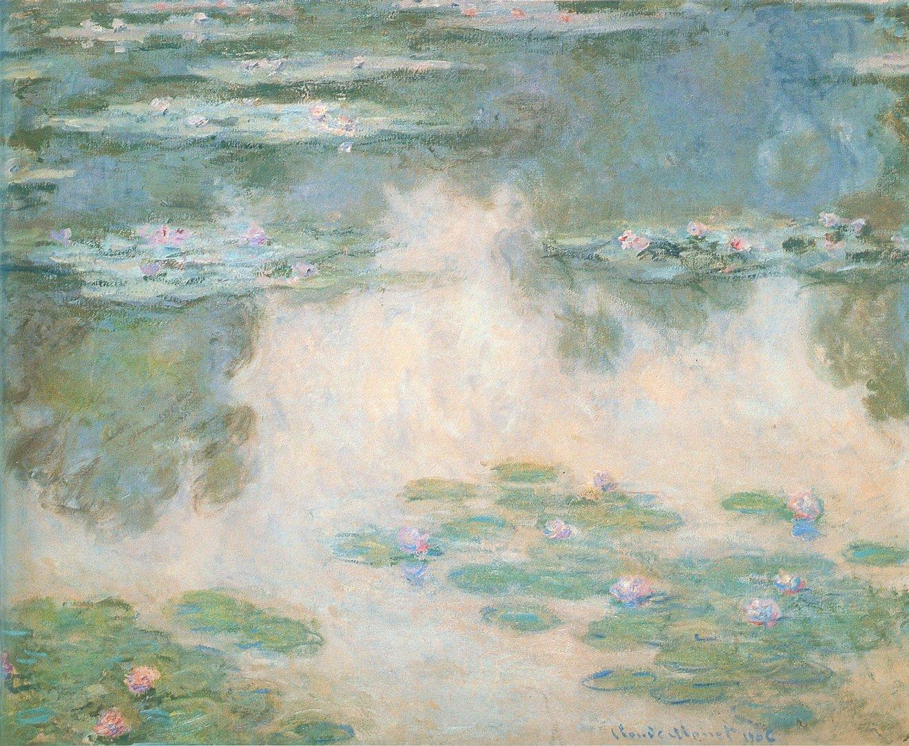 モネlog: 「睡蓮の連作」水の風景 Ⅲ