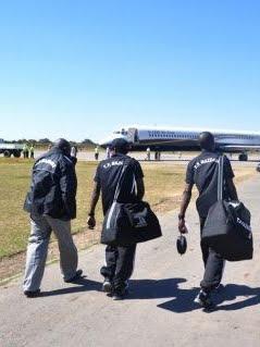 Arrivée des joueurs du TP Mazembe en Zambie ce mardi 8 mai/Photo tpmazembe.com