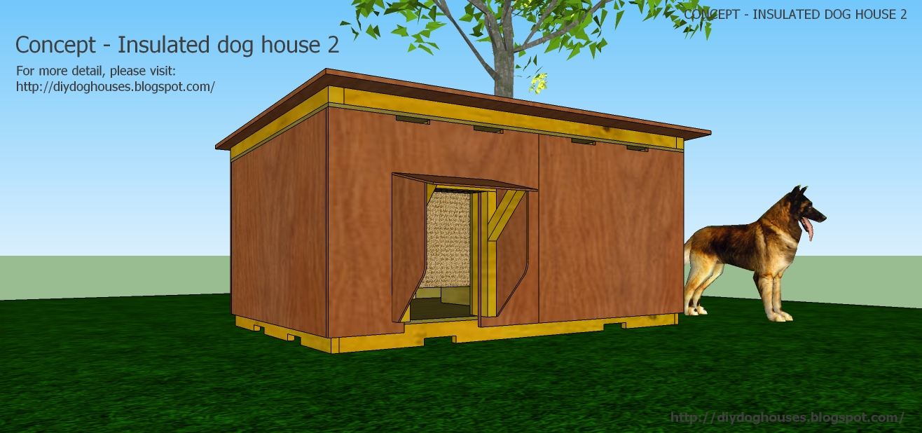 Dog house plans concept insulated dog house 2 from concept insulated dog house 2 malvernweather Image collections
