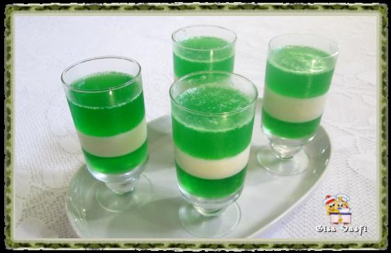 Gelatina bicolor de limão 3