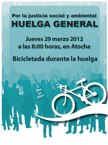 Bicicletada durante la Huelga. Ecologistas en Acción