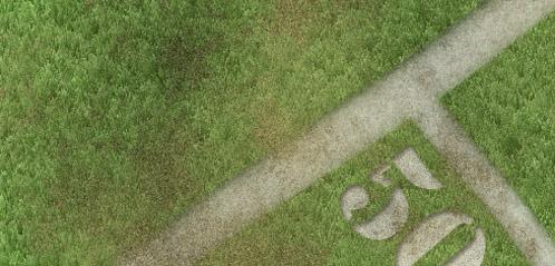 Esconda partes do gramado com a máscara