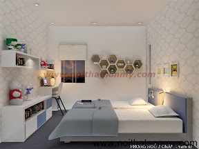 Thiết kế phòng ngủ với tông màu trắng