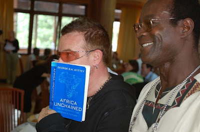 Rock star Bono advocates capitalism to lift up Africa