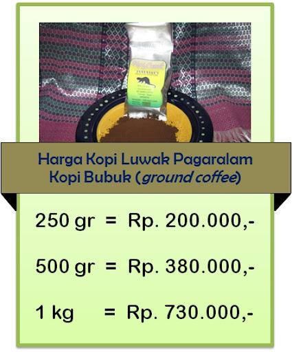 harga kopi luwak 2013