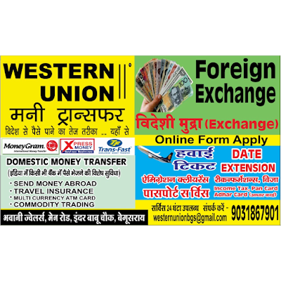 how to send money to india from western union