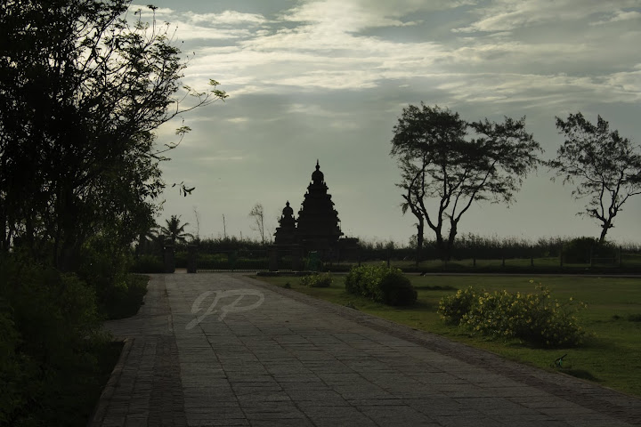 Shore temple at dawn
