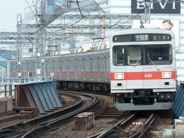 東京メトロ日比谷線 中目黒行き7 東急1000系