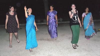 Dutch high school graduates dances with devotees in Zadar.
