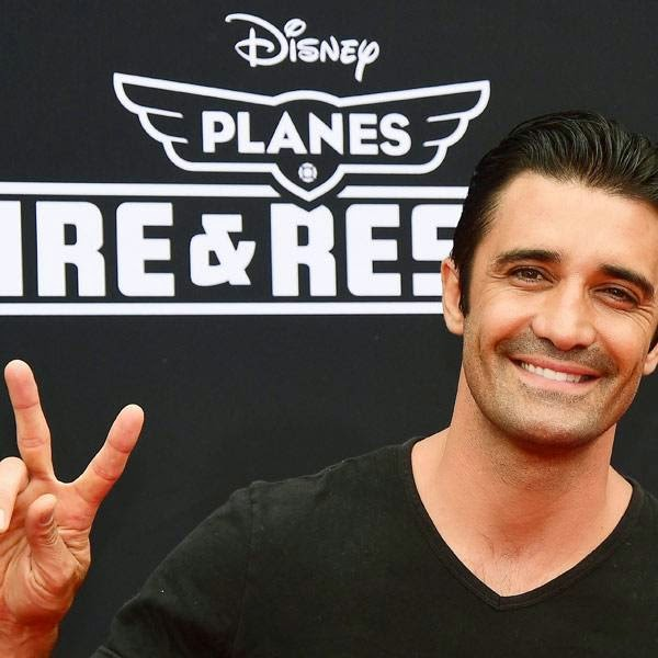 Gilles Marini poses on arrival for the world premiere of the film 'Planes Fire & Rescue' in Hollywood, California, on July 15, 2014. The film opens on July 18.