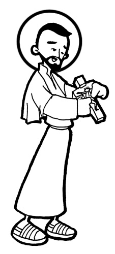 Saint Francis Xavier coloring pages