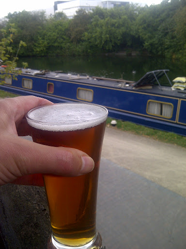 A half pint of London Pride at the Black Horse, Greenford.