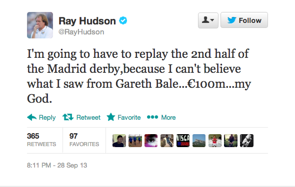 Ray Hudson wonders how Gareth Bale cost €100m after woeful display in the Madrid derby