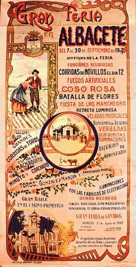 Cartel Feria Albacete 1907
