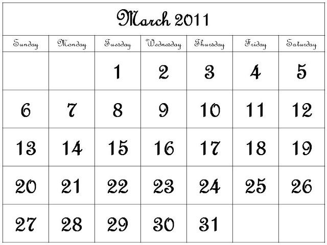 calendar for 2011 march. Calendar+for+2011+march