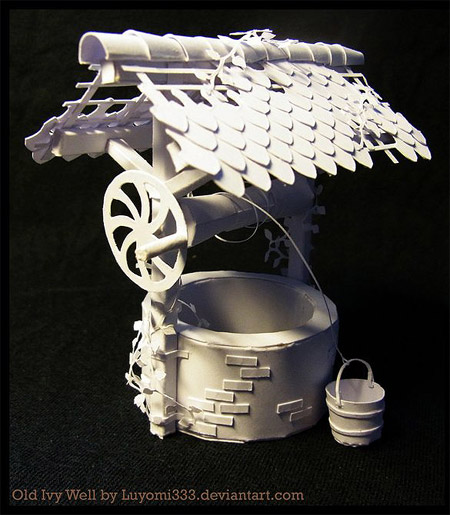 Old Ivy Water Well Papercraft