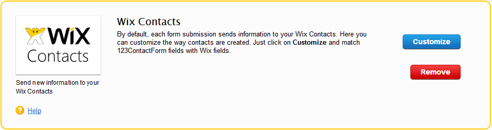 Wix Contacts integration for online forms