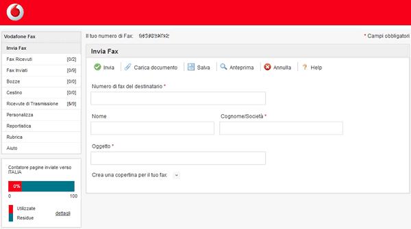 L'Internet Fax di Vodafone