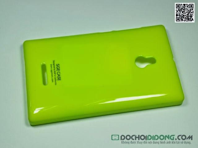 Ốp lưng Nokia XL cứng bóng vân sần