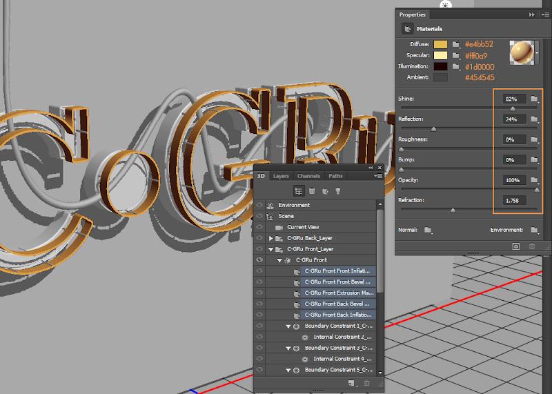 Photoshop - เทคนิคการสร้างตัวอักษร 3D Glowing แบบเนียนๆ ด้วย Photoshop 3dglow33