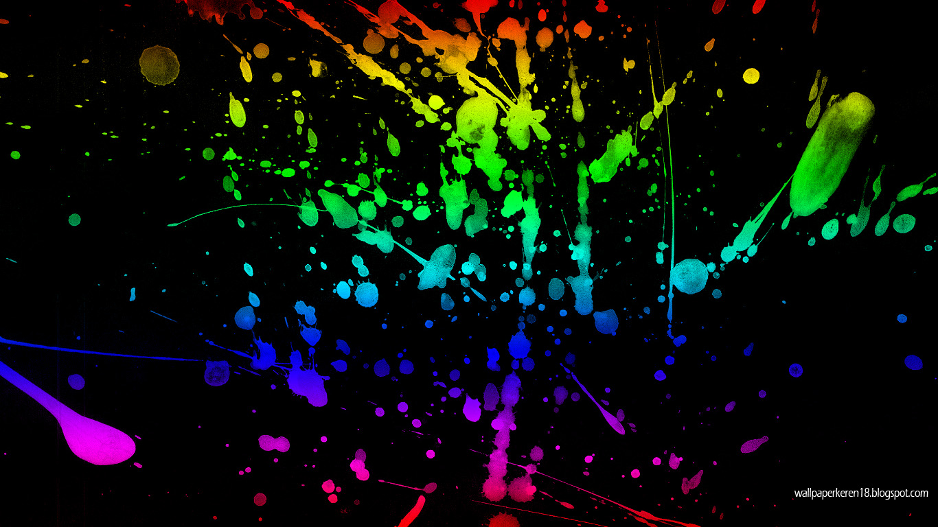 Wallpaper Splash Gambar Pelangi Arsip