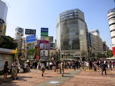 渋谷のQフロントのあるスクランブル交差点
