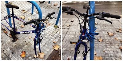 bicicleta Boomerang, le han robado casi todo