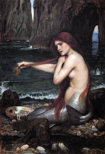 Picture of A Mermaid by John William Waterhouse, 1901..jpg 988 × 1 444 pixels