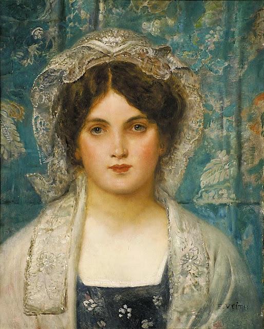 Eduard Veith - Portrait einer jungen Frau