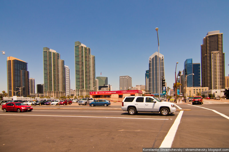 USA California San Diego Downtown США Калифорния Сан Диего Даунтаун центр города