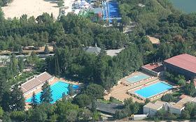 Obras de reparación de la piscina de la Casa de Campo