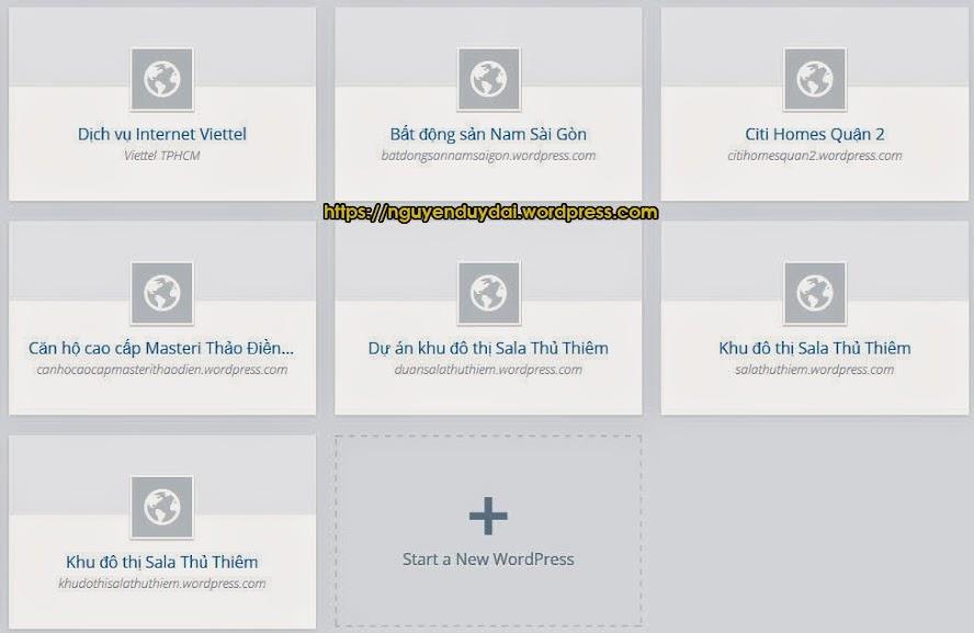 thủ thuật tạo nhiều blog wordpress chỉ cần 1 email