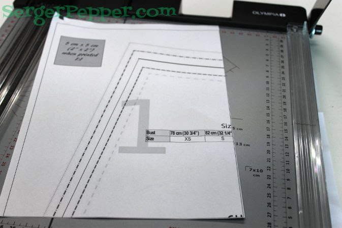 Serger Pepper - Fast & Easy Tips for print and assembly a PDF pattern - sheet 1