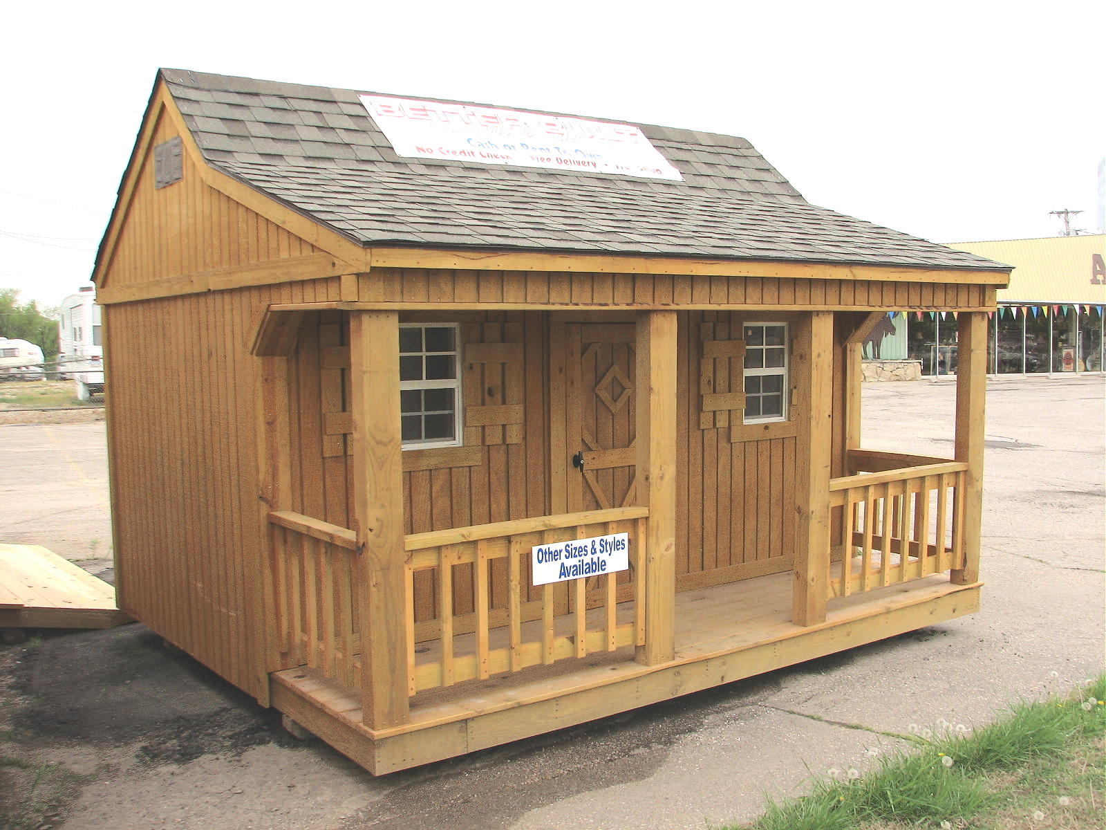 Tiny cottages mini cottage for sale we also finance for Mini barn plans
