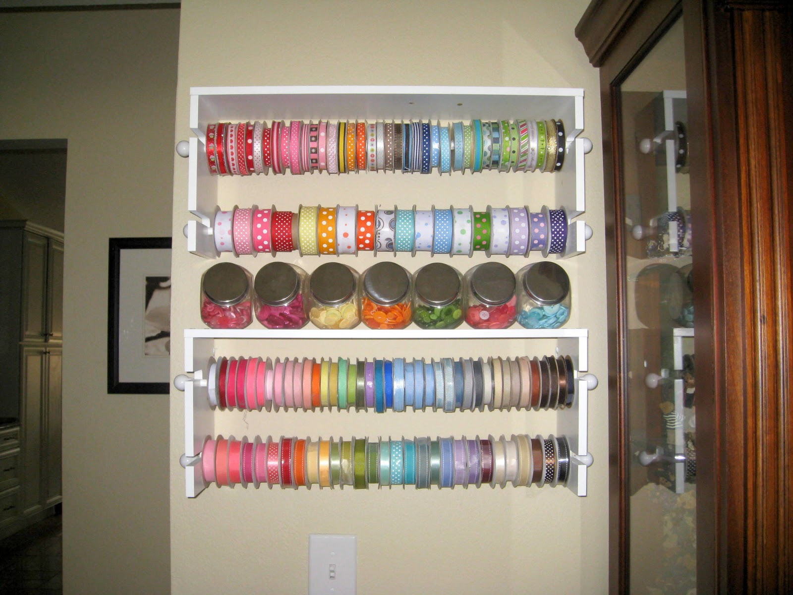 Storage For Craft Room: Really Reasonable Ribbon Blog: Another Day Of Ribbon
