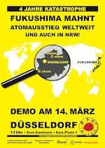 Demo-Plakat – Fukushima mahnt