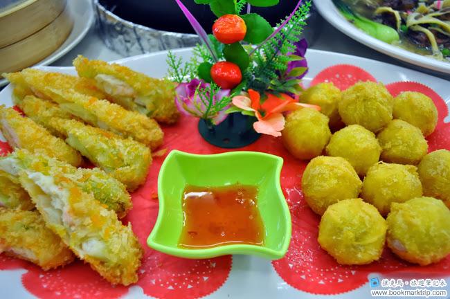 花壇公雞餐廳地瓜球拼海鮮卷