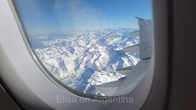 Cordillera de los Andes, Vista desde la ventanilla del avión de LAN, Elisa N, Blog de Viajes, Lifestyle, Travel